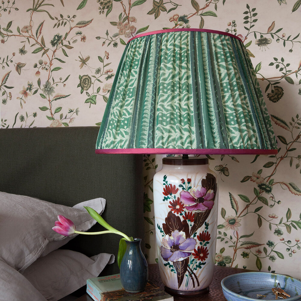 Swakeley's Chinoiserie Wallpaper - Yellow / Green / Pink - by Hamilton Weston Wallpapers