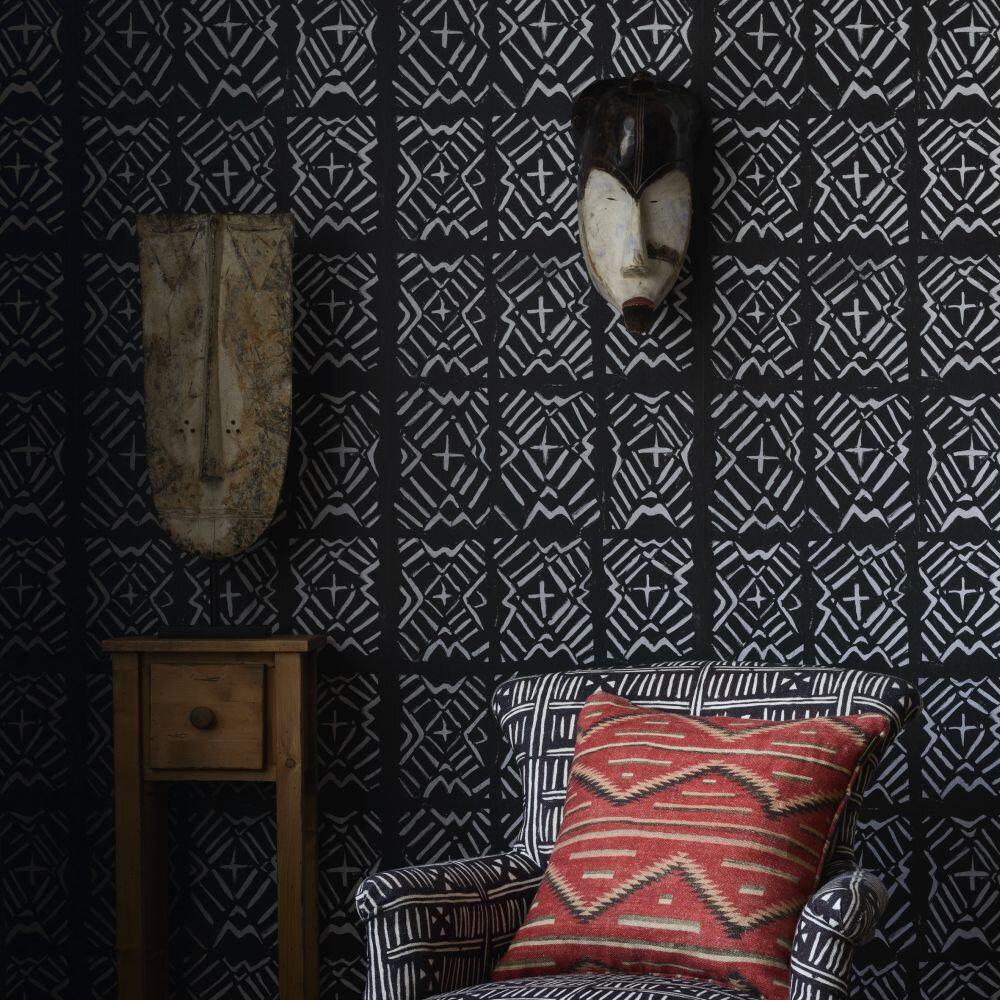 Bamana Mural - Black / White - by Mind the Gap