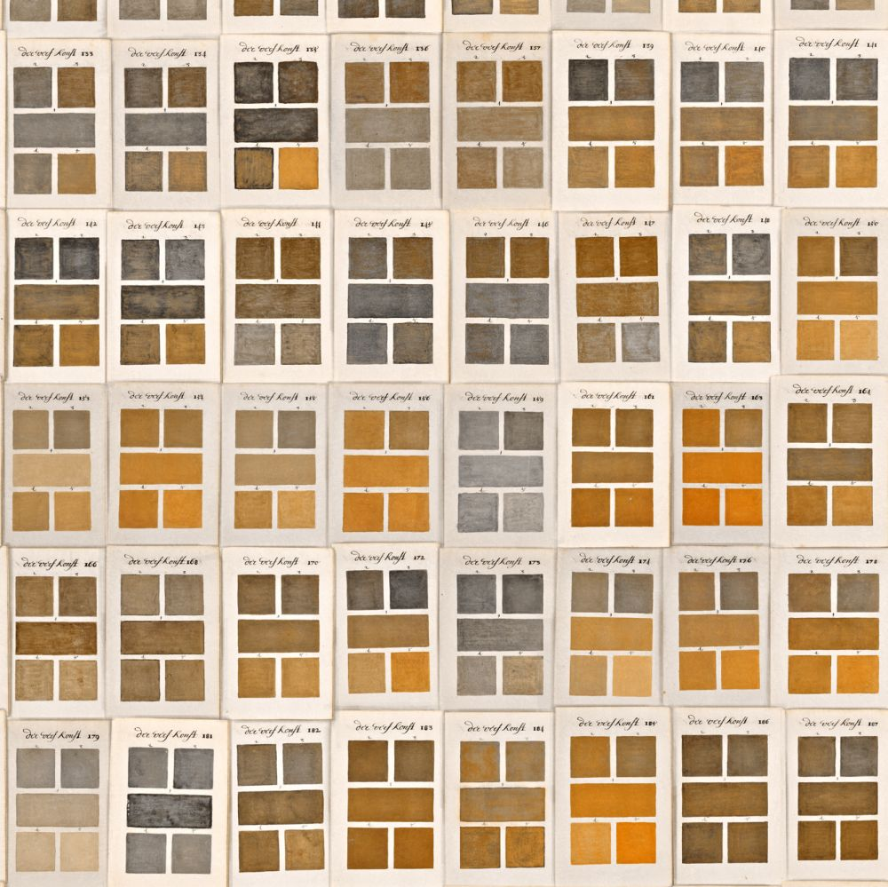 Triate Des Couleurs Mural - Brown / Yellow / White - by Mind the Gap