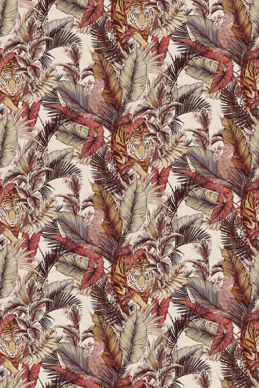 Bengal Tiger Fabric - Safari - by Prestigious