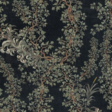 Mind the Gap Dark Leaves  Anthracite / Green / Grey  Mural - Product code: WP20458