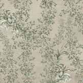 Mind the Gap Soft Leaves  Taupe / Green / Grey Mural - Product code: WP20459