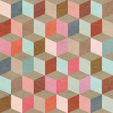 Mind the Gap Coloured Geometry Beige Mural - Product code: WP20004