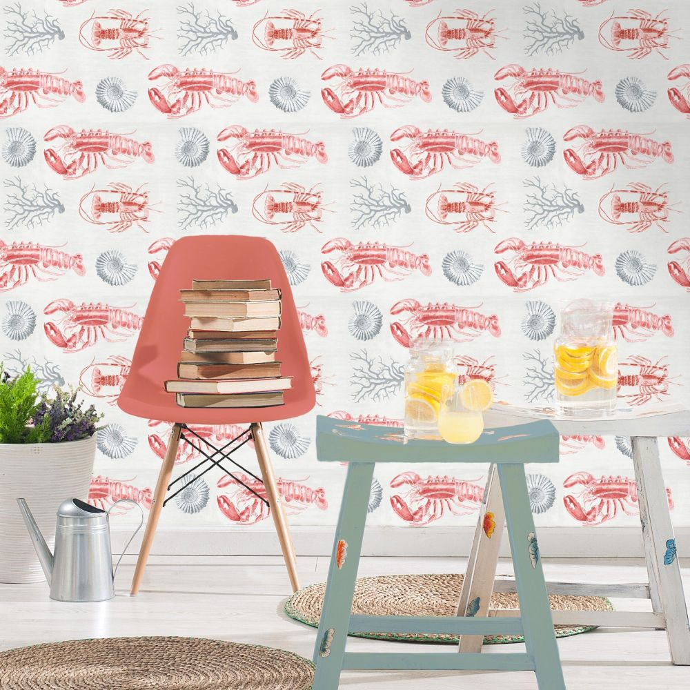 Mind the Gap Lobster White Mural - Product code: WP20012
