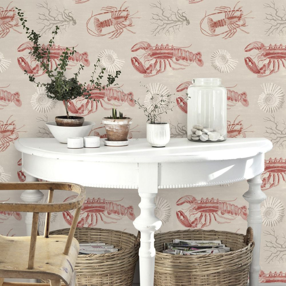 Lobster Mural - Taupe - by Mind the Gap
