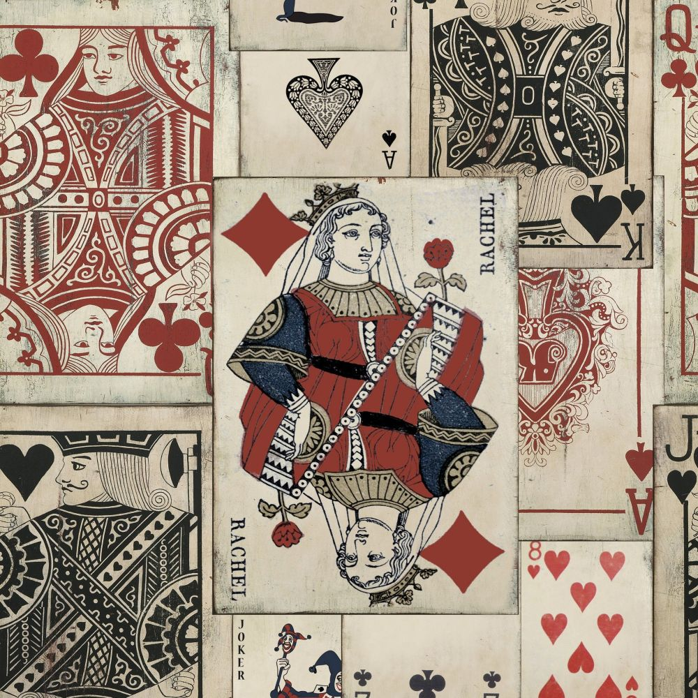 Play Cards Mural - Brown - by Mind the Gap