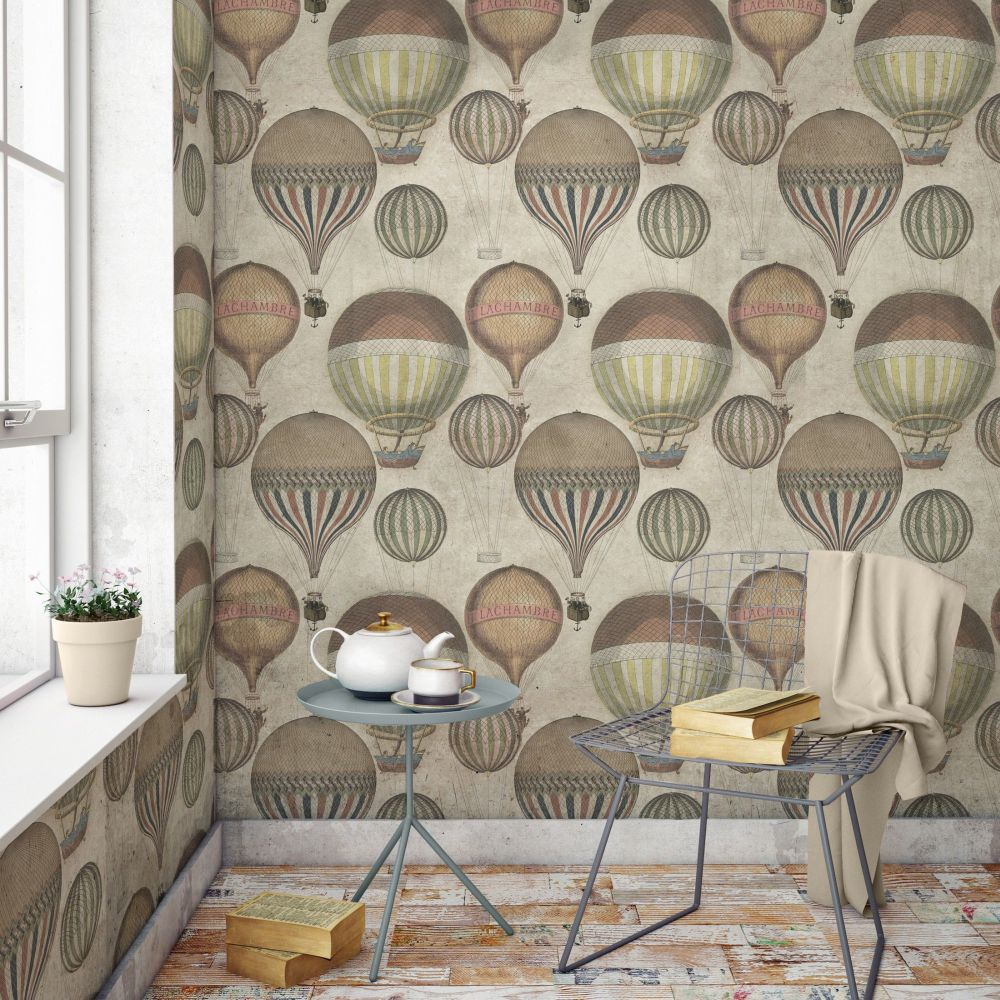 Mind the Gap Hot Air Taupe Mural - Product code: WP20033