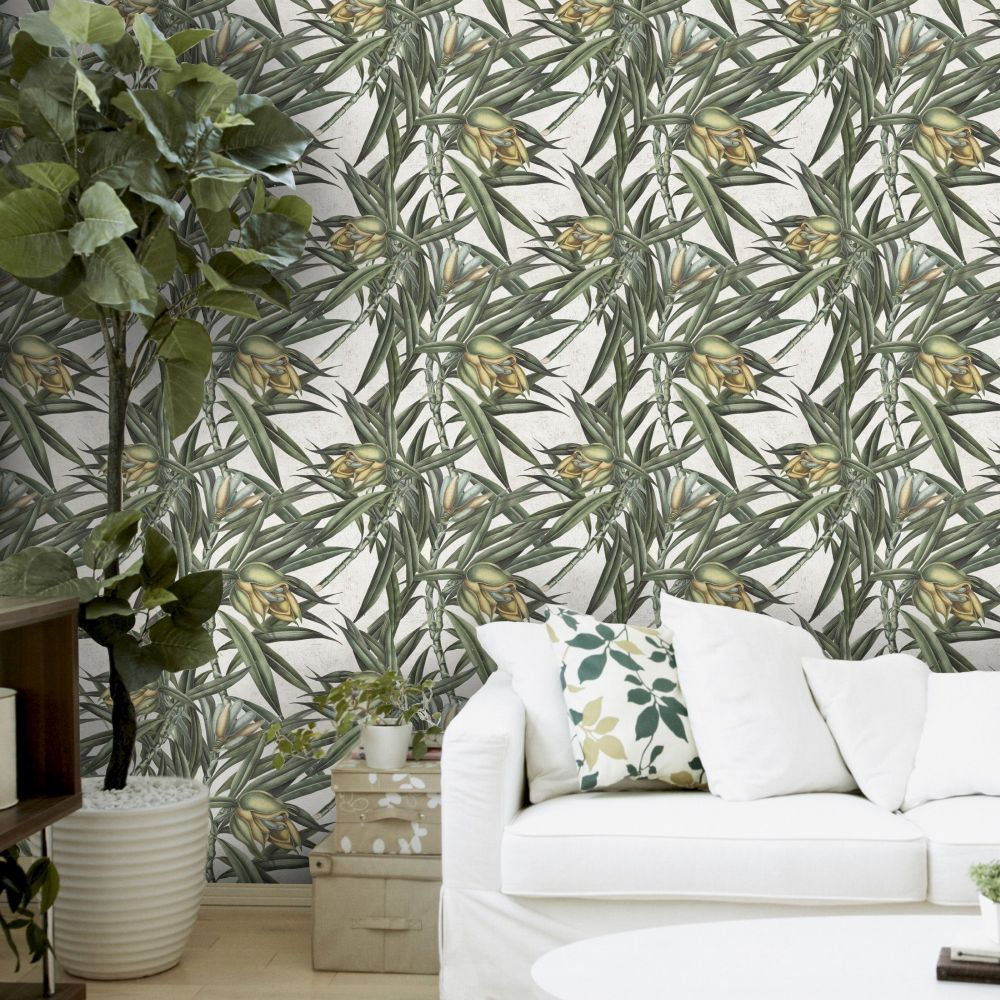 Mind the Gap Exotic Fruit II Green Mural - Product code: WP20098