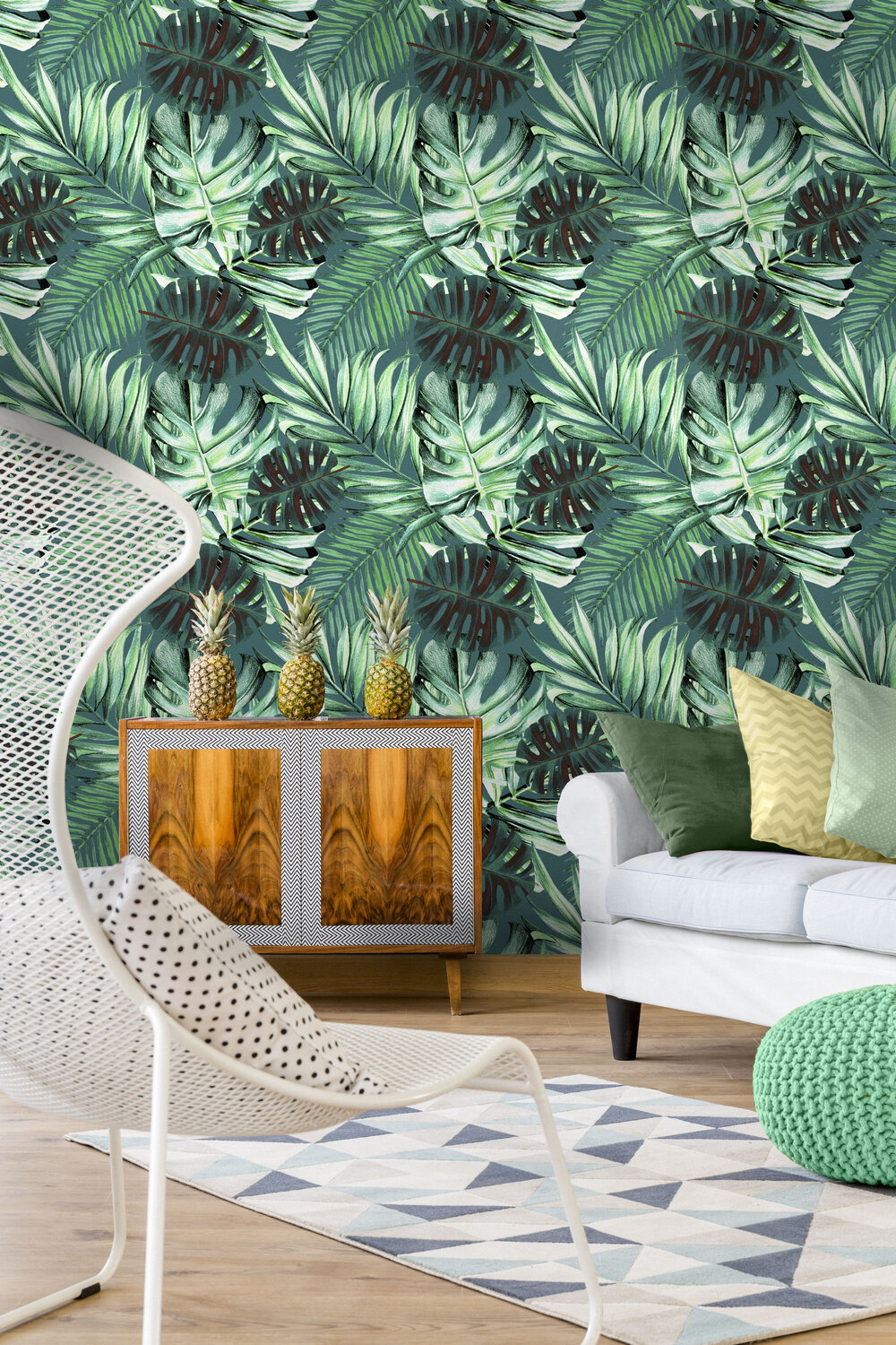 Mind the Gap Rainforest Teal Mural - Product code: WP20108