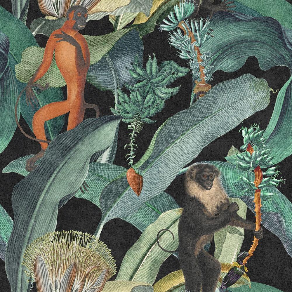 Bermuda Mural - Black / Green - by Mind the Gap