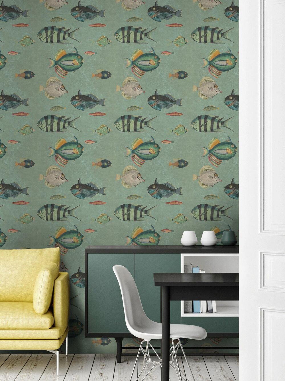 Mind the Gap Poissons Green Mural - Product code: WP20181