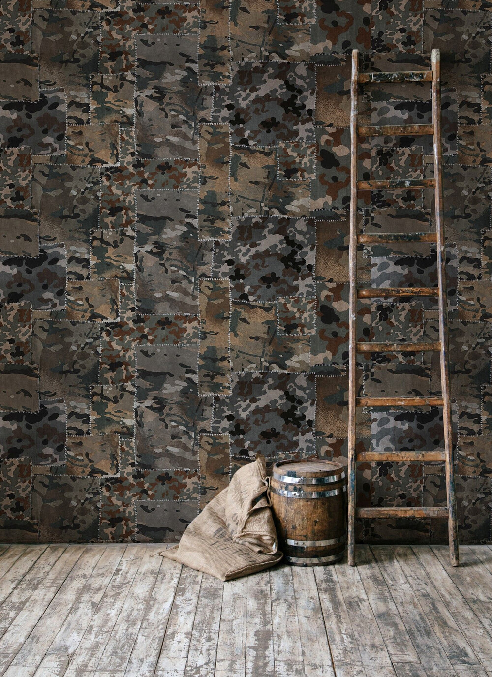 Mind the Gap Camo Brown Mural - Product code: WP20202