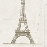 Mind the Gap Grand Eiffel Cream Mural - Product code: WP20217