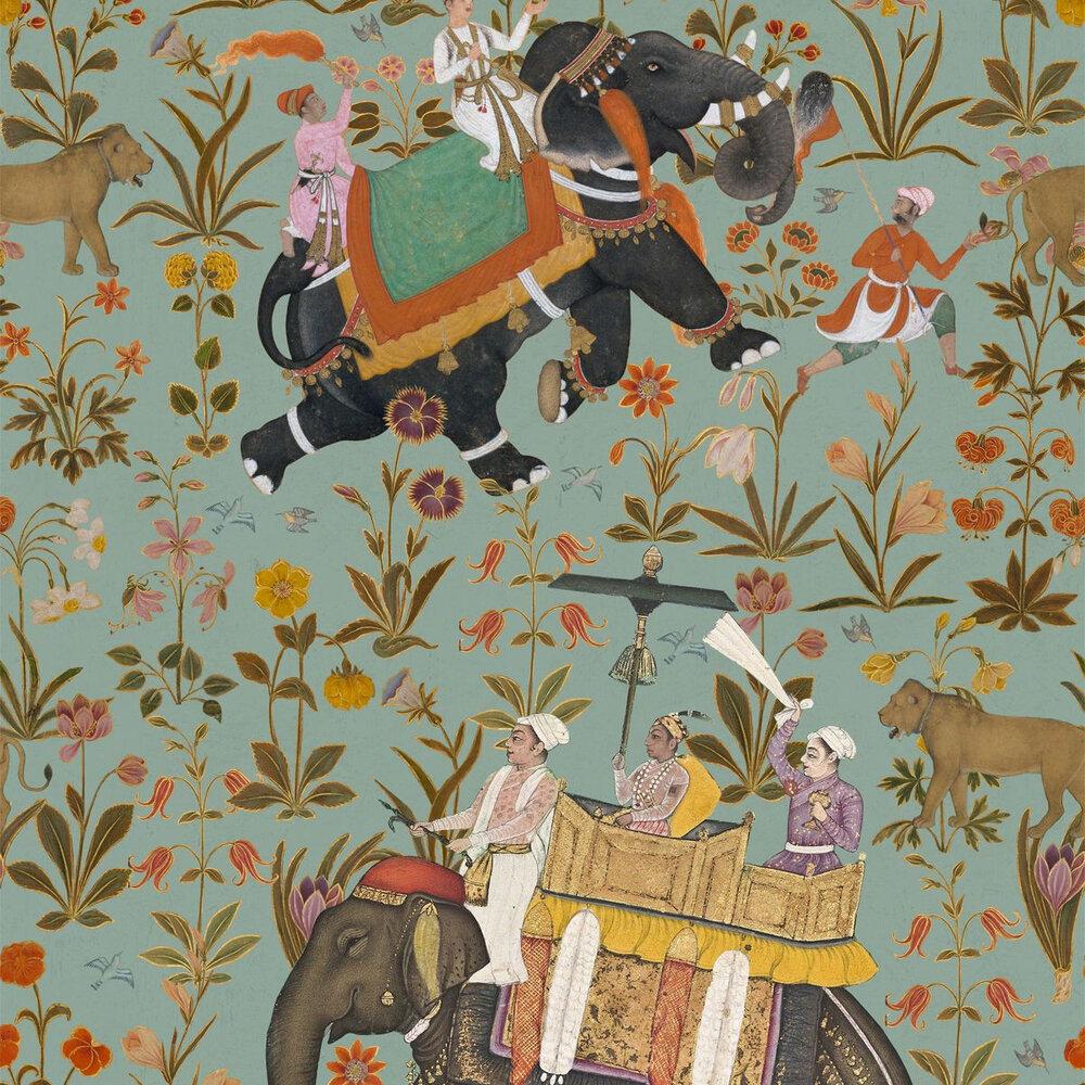 Hindustan Mural - Aquamarine - by Mind the Gap