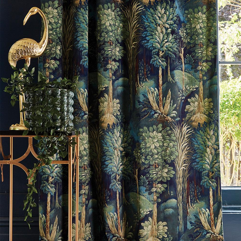 Forbidden Forest Fabric - Sapphire - by Prestigious