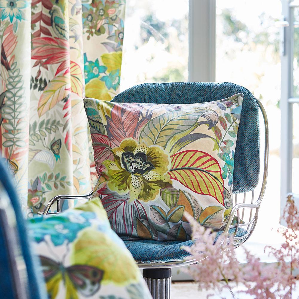 Hidden Paradise Fabric - Pastel - by Prestigious