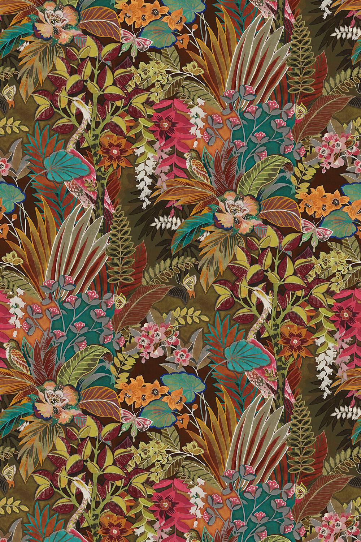 Hidden Paradise Fabric - Calypso - by Prestigious
