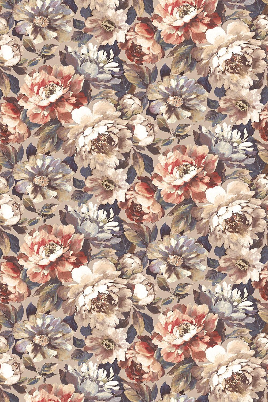 Secret Oasis Fabric - Rouge - by Prestigious