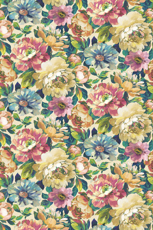 Secret Oasis Fabric - Jewel - by Prestigious