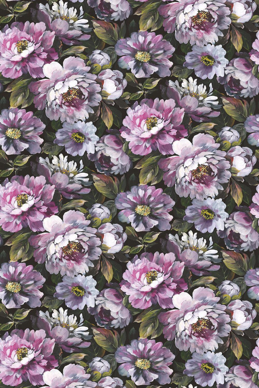 Secret Oasis Fabric - Ultra Violet - by Prestigious
