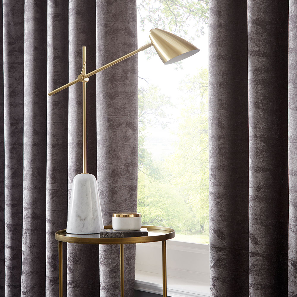Topia Eyelet Curtain Ready Made Curtains - Charcoal - by Studio G