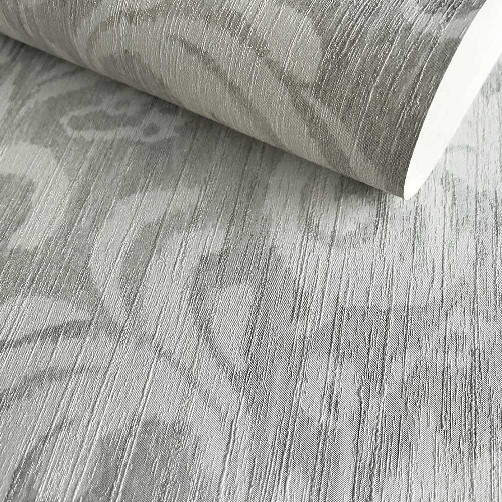 Bali Wallpaper - Silver Grey - by Fardis