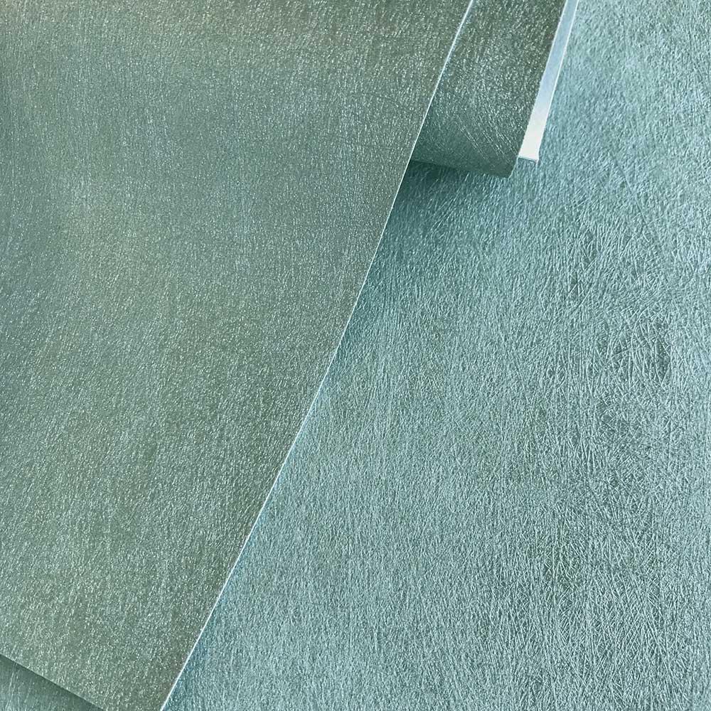 Aphrodite Plain Wallpaper - Turquoise - by Fardis