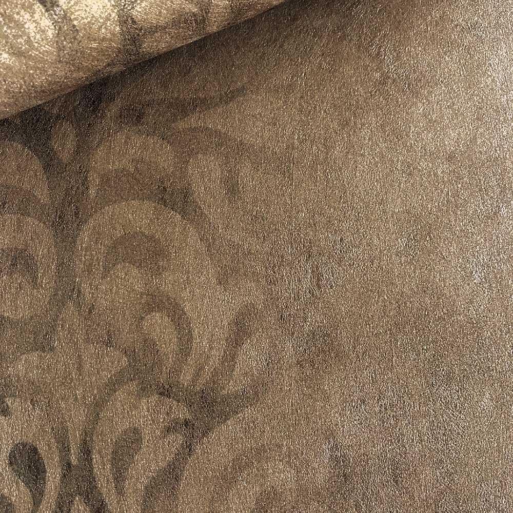 Devore Stripe Wallpaper - Bronze - by Fardis