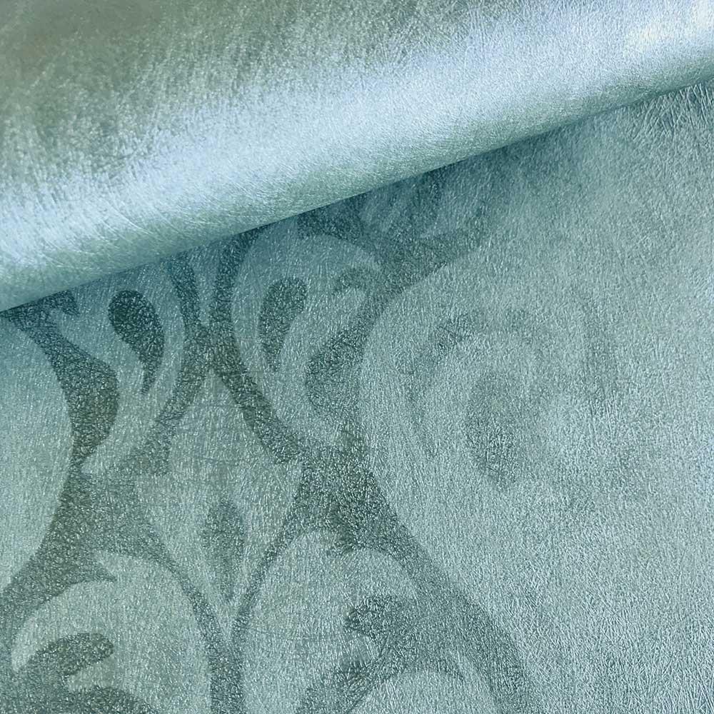 Devore Stripe Wallpaper - Turquoise - by Fardis