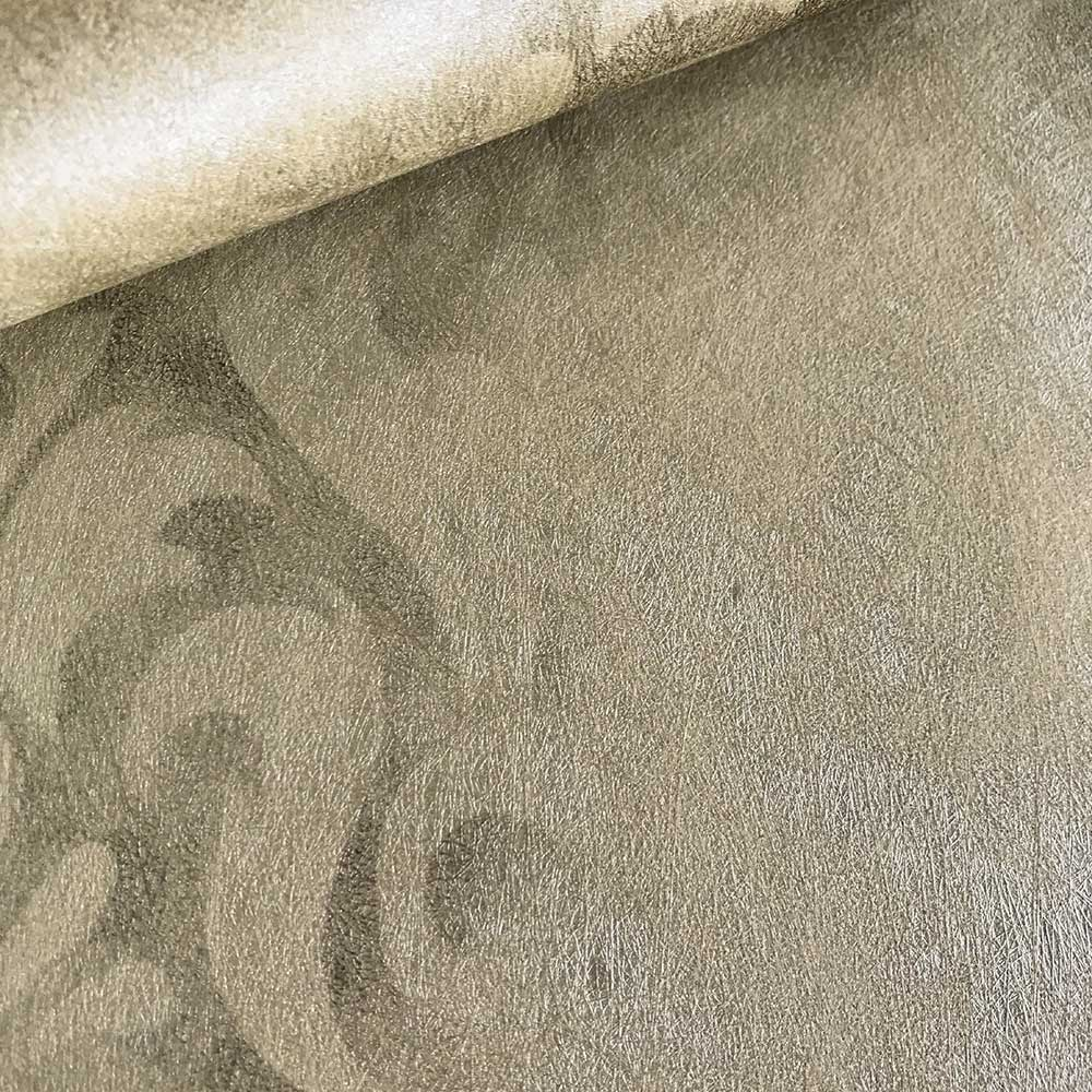 Devore Stripe Wallpaper - Brown - by Fardis