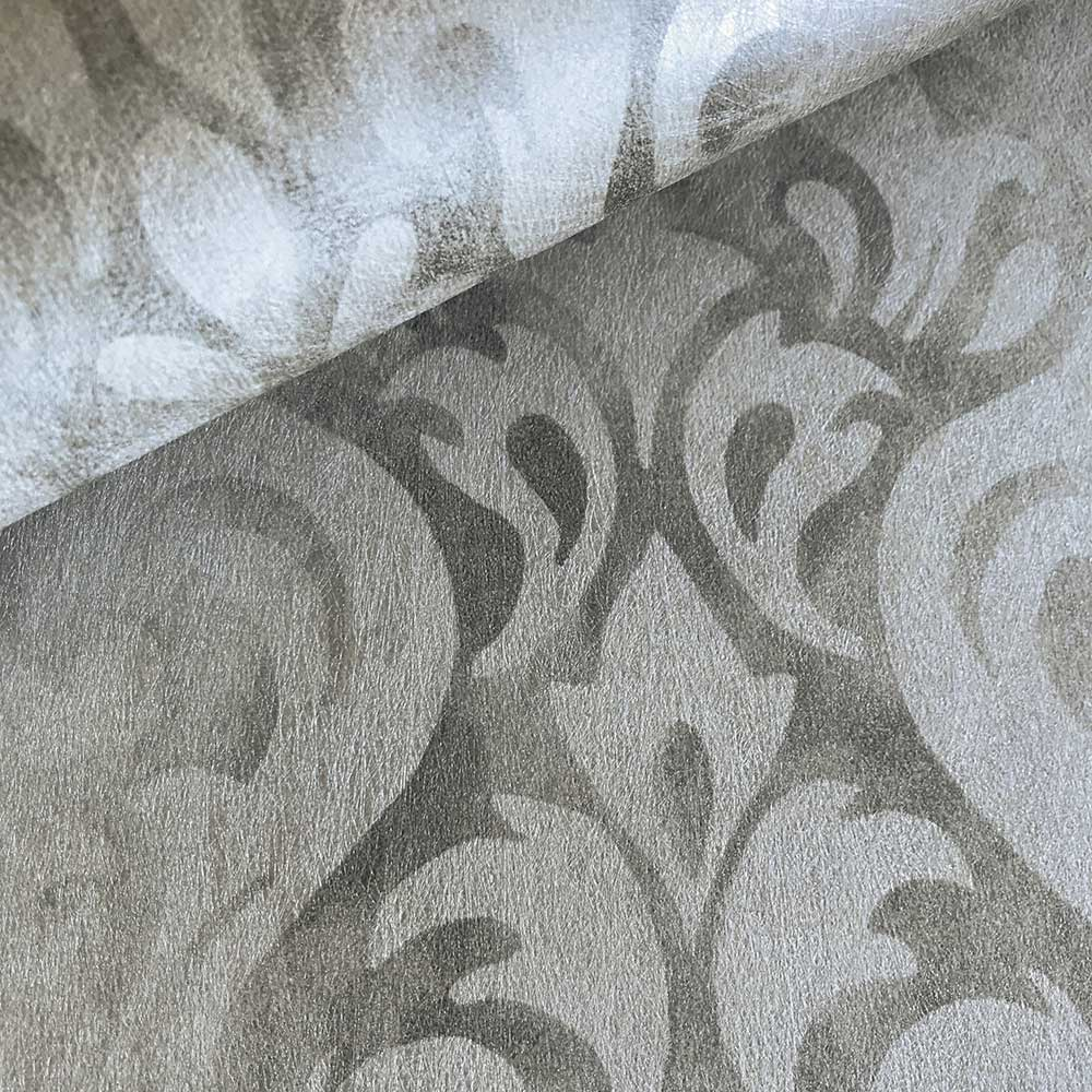 Devore Stripe Wallpaper - Silver - by Fardis