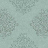 Fardis Devore Damask Turquoise Wallpaper - Product code: 10123