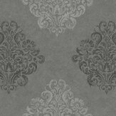 Fardis Devore Damask Grey Wallpaper - Product code: 10124