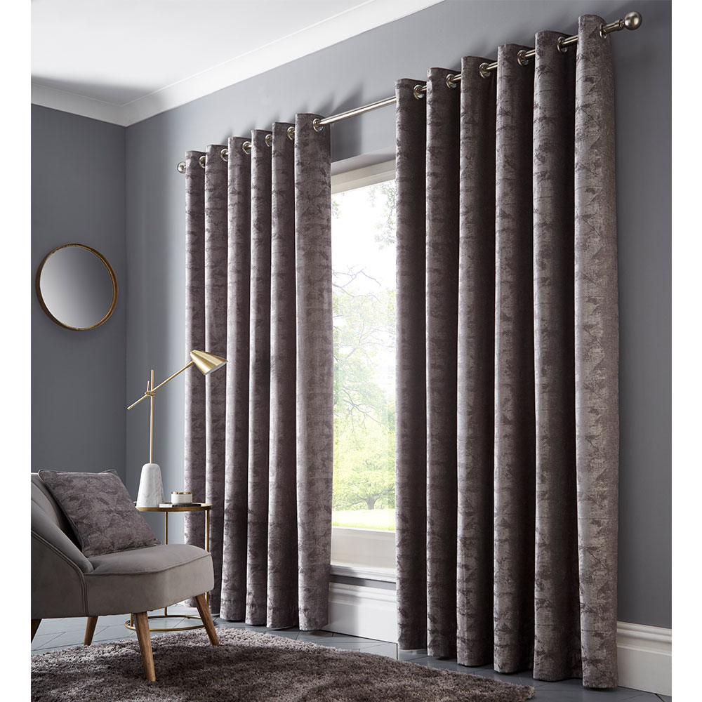 Studio G Topia Eyelet Curtain Charcoal Ready Made Curtains - Product code: M1114/01/46X72