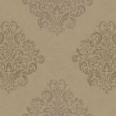 Fardis Devore Damask Beige Wallpaper - Product code: 10125