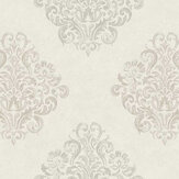 Fardis Devore Damask White Wallpaper - Product code: 10128