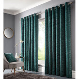 Studio G Topia Eyelet Curtain Emerald Ready Made Curtains - Product code: M1114/02/46X54