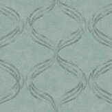 Fardis Devore Ribbon Turquoise Wallpaper - Product code: 10133