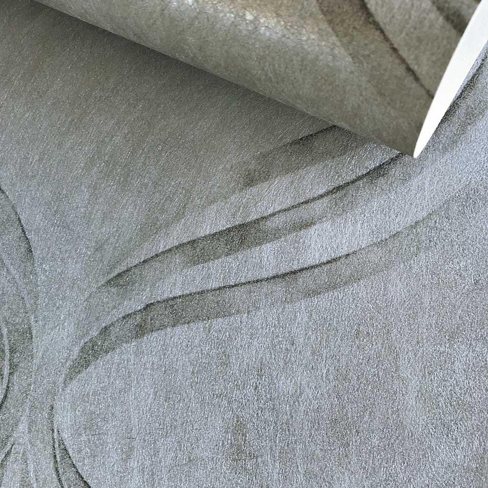 Devore Ribbon Wallpaper - Silver - by Fardis