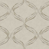 Fardis Devore Ribbon Taupe Wallpaper - Product code: 10137