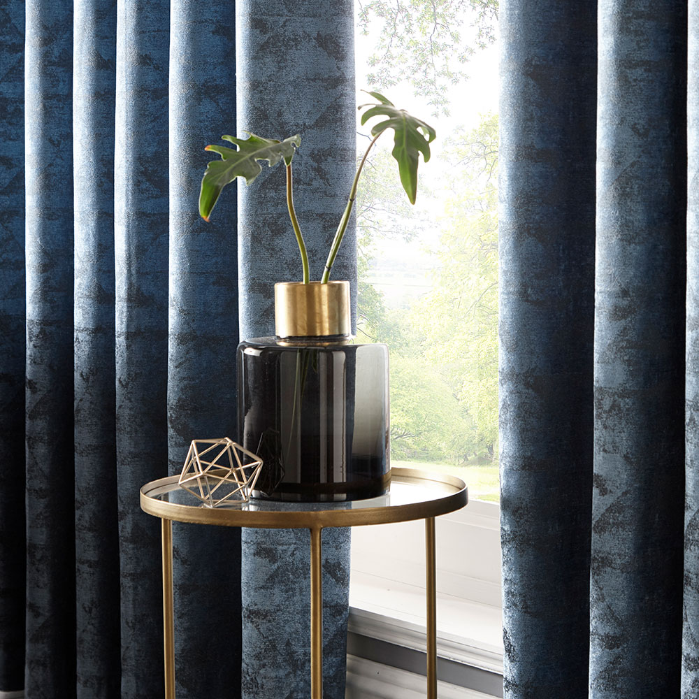 Studio G Topia Eyelet Curtain Teal Ready Made Curtains - Product code: M1114/05/46X72