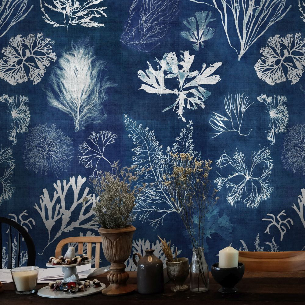 Mind the Gap Algae Navy Blue Mural - Product code: WP20297