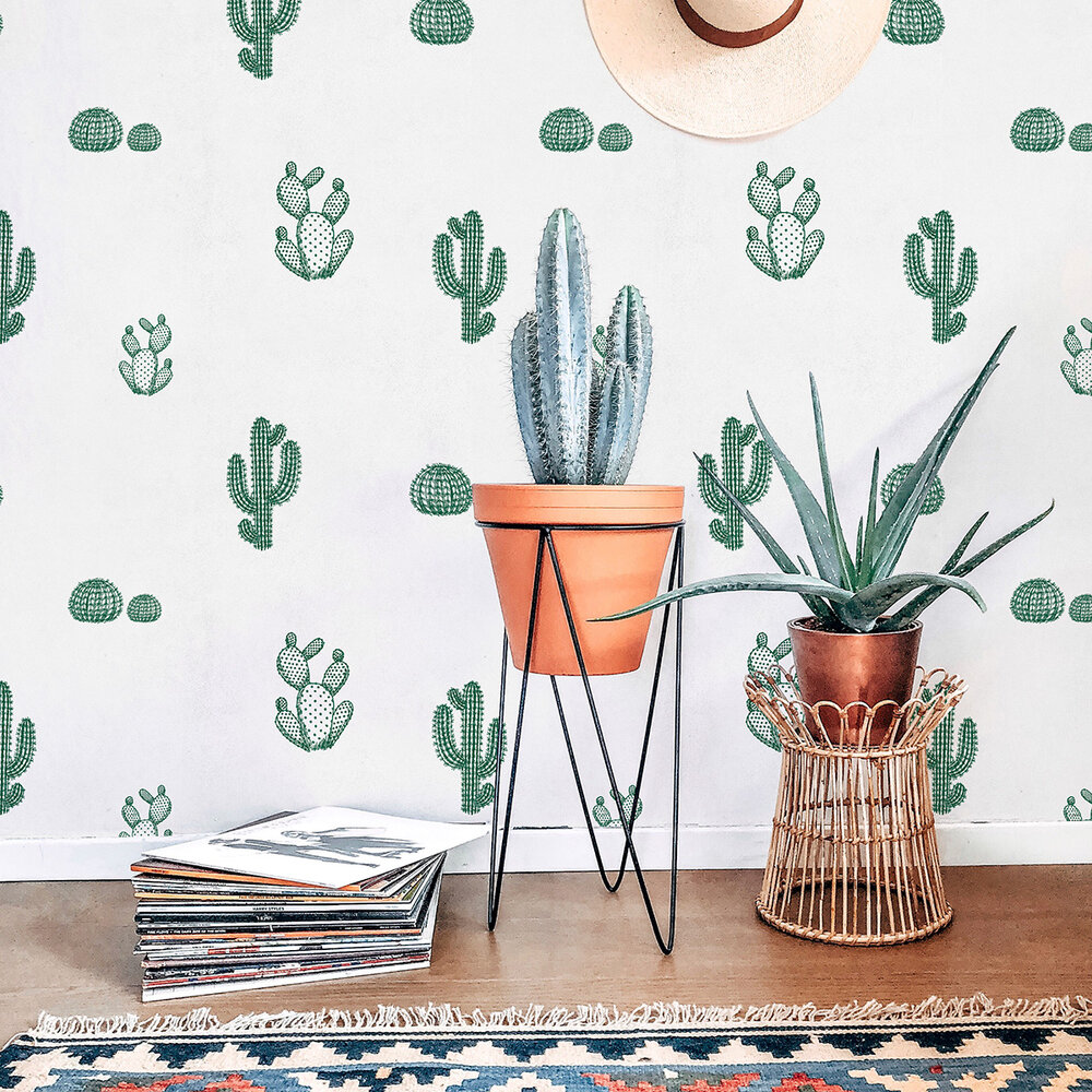 Arizona Wallpaper - Green - by Coordonne