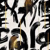 Mind the Gap Gestural Abstraction Black / White Mural - Product code: WP20332