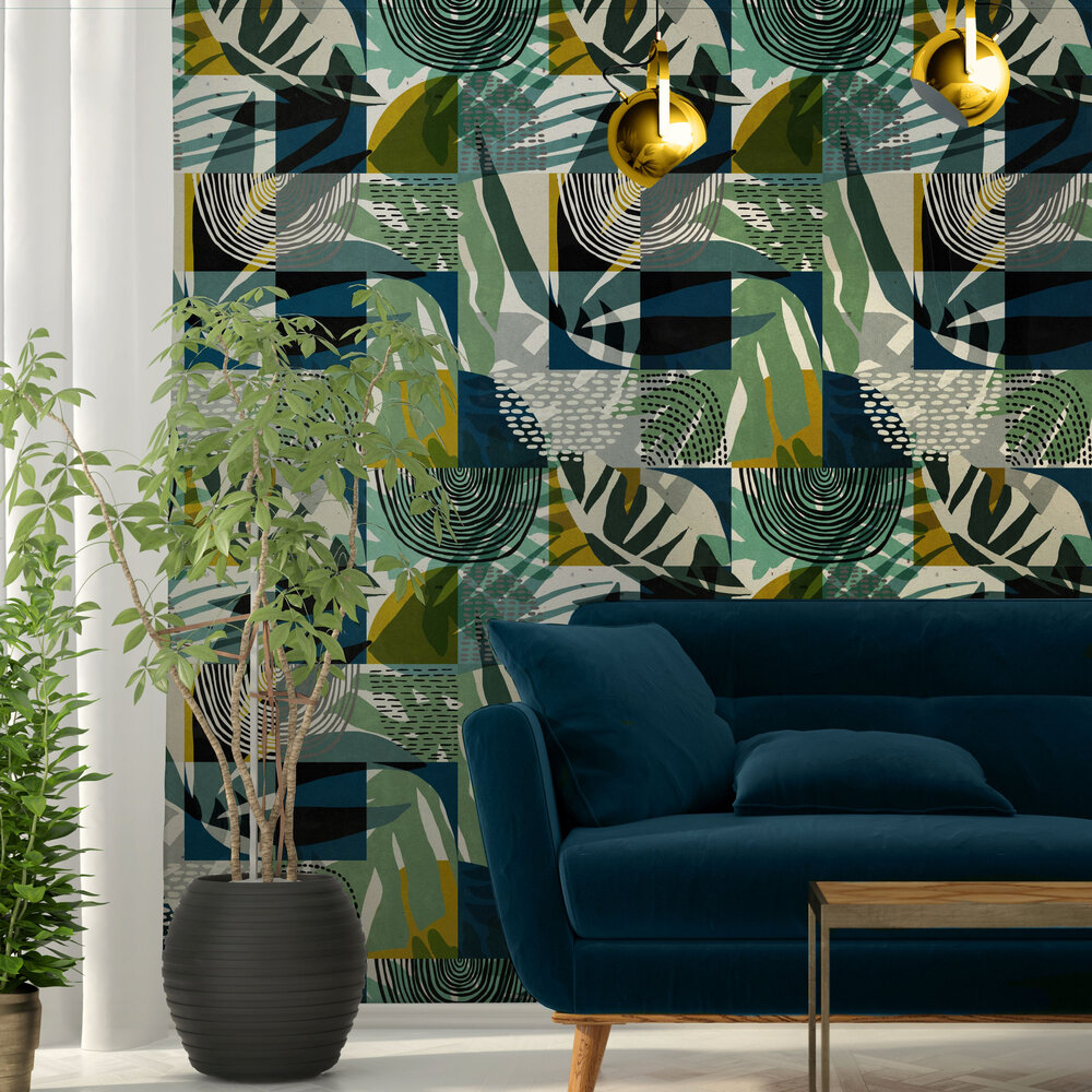 Mind the Gap Wilderness Teal Mural - Product code: WP20336