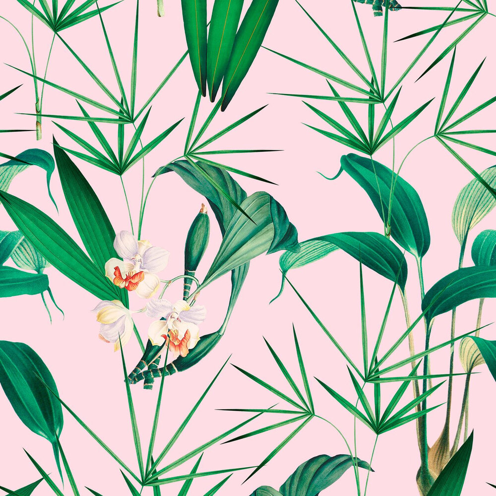 Mind the Gap Palm Springs Pink / Green  Mural - Product code: WP20361
