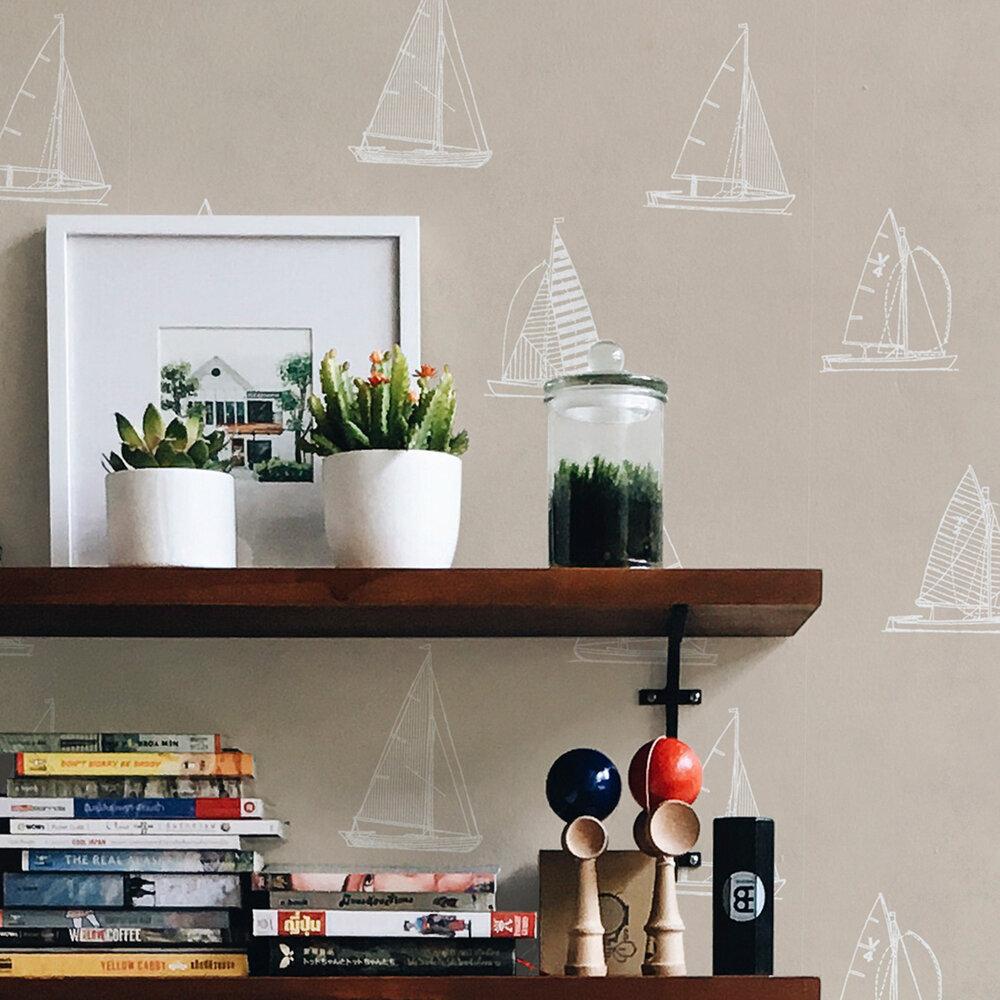 Eslora Wallpaper - Beige - by Coordonne