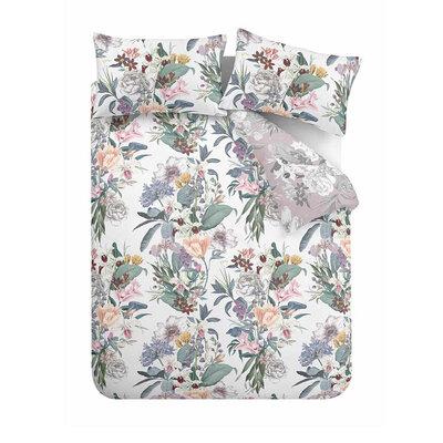 Accessorize Accessorize Kensington 100% Cotton Reversible Duvet Cover and Pillowcase Set Multi | Double