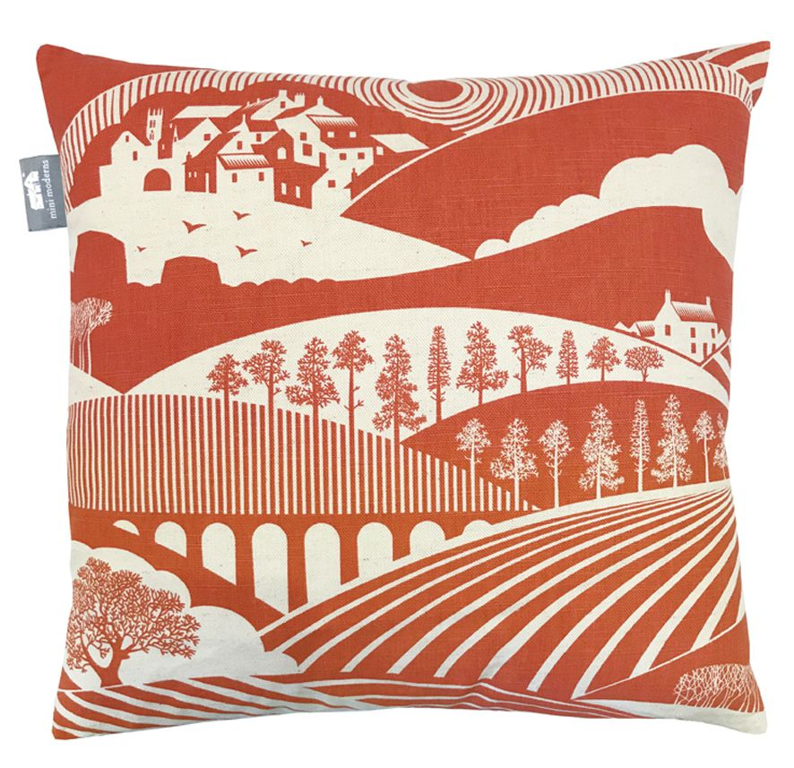 Mini Moderns Moordale Harvest  Orange Cushion - Product code: MOOREDALE ORANGE