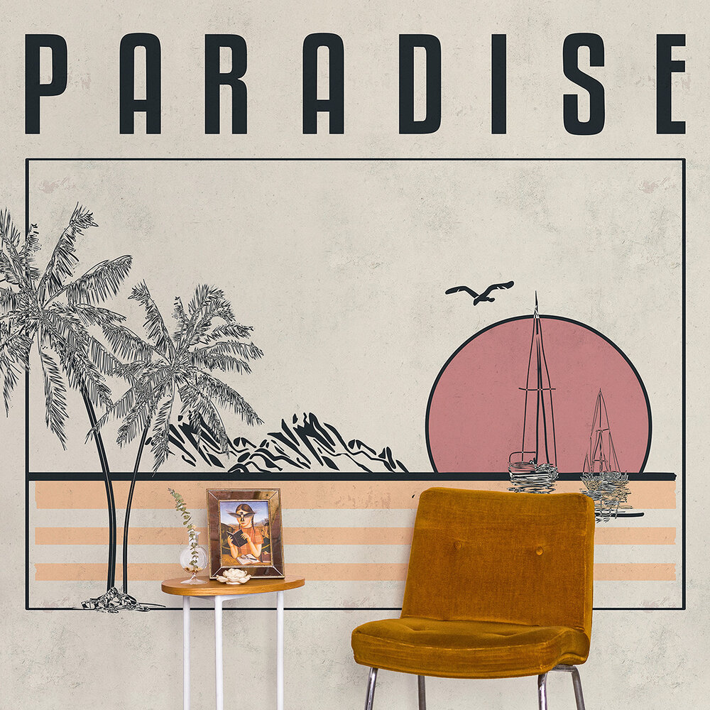 Paradise Mural - Warm - by Coordonne